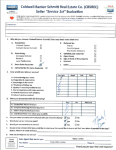 Testimonial, Evaluation Form from Diane Corliss Customer